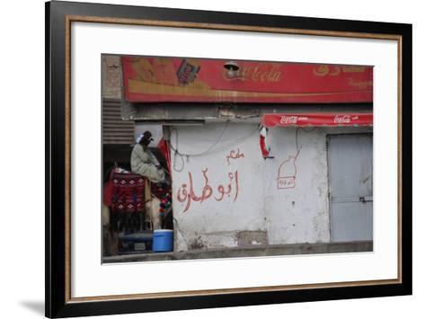 A Street in Cairo--Framed Art Print