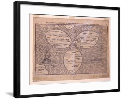 World in a Clover Leaf, 1581-Heinrich Bunting-Framed Art Print