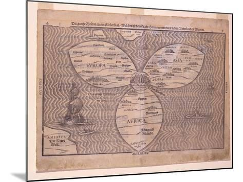 World in a Clover Leaf, 1581-Heinrich Bunting-Mounted Giclee Print