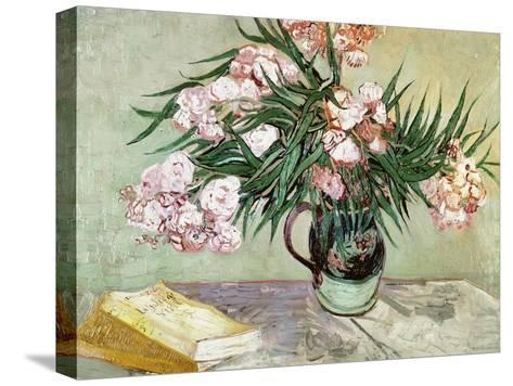 Oleanders and Books, 1888-Vincent van Gogh-Stretched Canvas Print