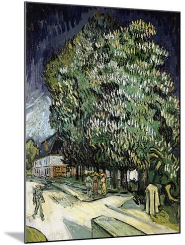 Chestnut Trees in Blossom, Auvers-Sur-Oise, 1890-Vincent van Gogh-Mounted Giclee Print
