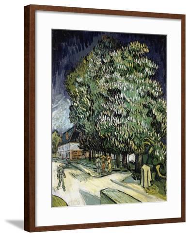 Chestnut Trees in Blossom, Auvers-Sur-Oise, 1890-Vincent van Gogh-Framed Art Print