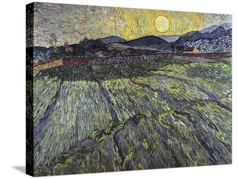 Enclosed Field with Rising Sun, 1889-Vincent van Gogh-Stretched Canvas Print