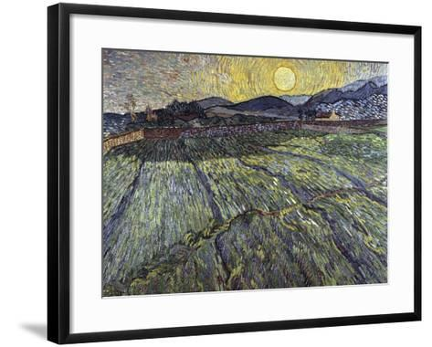 Enclosed Field with Rising Sun, 1889-Vincent van Gogh-Framed Art Print