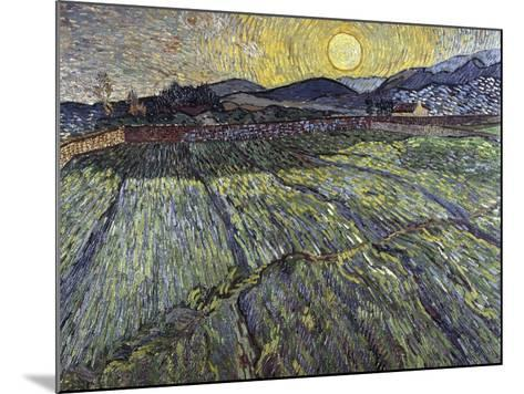 Enclosed Field with Rising Sun, 1889-Vincent van Gogh-Mounted Giclee Print