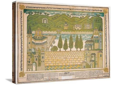 The Western Wall and its Surroundings, 1895-Shmuel Schulman-Stretched Canvas Print