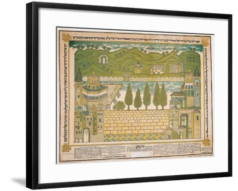 The Western Wall and its Surroundings, 1895-Shmuel Schulman-Framed Art Print