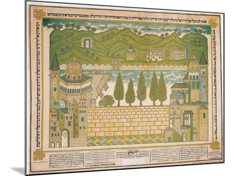 The Western Wall and its Surroundings, 1895-Shmuel Schulman-Mounted Giclee Print