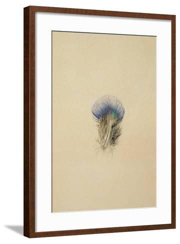 Study of a Peacock Feather, 1873-John Ruskin-Framed Art Print