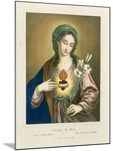 The Sacred Heart of Mary, Published by Fr. Wentzel, Weissenburg, 1850-German School-Mounted Giclee Print