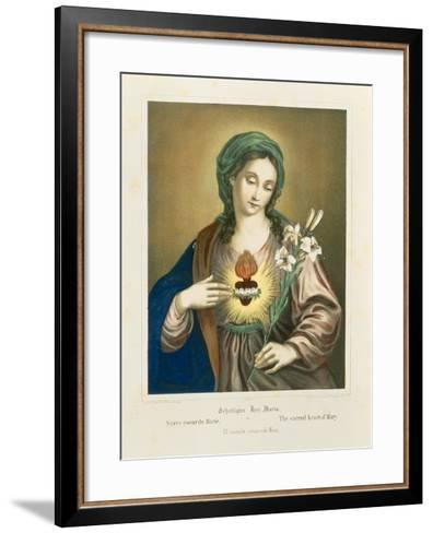 The Sacred Heart of Mary, Published by Fr. Wentzel, Weissenburg, 1850-German School-Framed Art Print