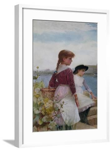 Waiting for the Ferry-Hector Caffieri-Framed Art Print