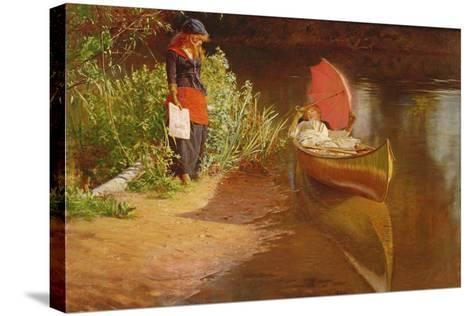 Marooned-Edward John Gregory-Stretched Canvas Print