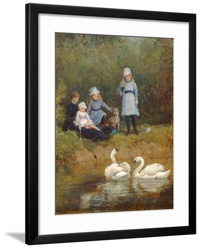 Watching the Swans-Heywood Hardy-Framed Art Print