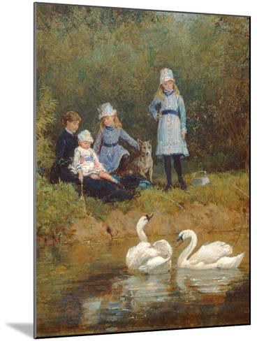 Watching the Swans-Heywood Hardy-Mounted Giclee Print