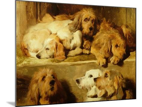 Hounds in a Kennel-Edwin Henry Landseer-Mounted Giclee Print
