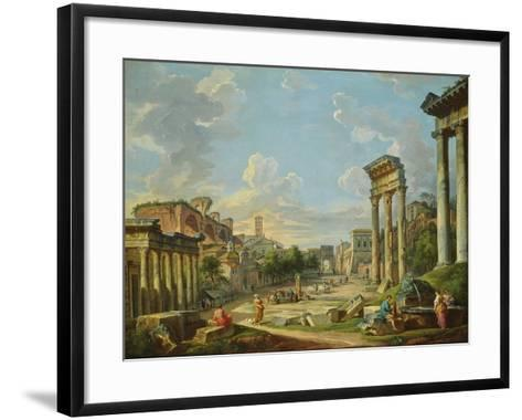 View of Campo Vaccino in Rome, 1740-Giovanni Paolo Pannini-Framed Art Print