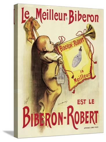 Poster Advertising 'Biberon-Robert' Baby Bottles-Firmin Bonisset-Stretched Canvas Print