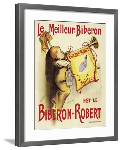 Poster Advertising 'Biberon-Robert' Baby Bottles-Firmin Bonisset-Framed Art Print