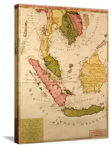 Map of South East Asia--Stretched Canvas Print