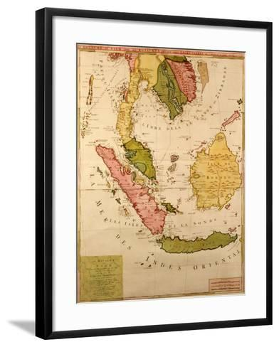 Map of South East Asia--Framed Art Print