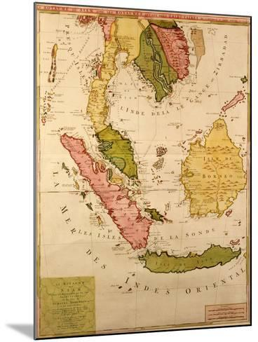 Map of South East Asia--Mounted Giclee Print