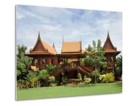 A Contemporary Thai Style House--Metal Print