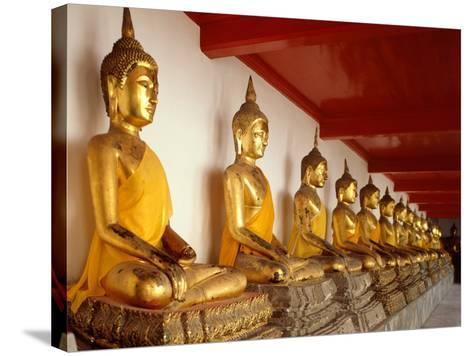 Ayutthaya Period Buddha Images--Stretched Canvas Print