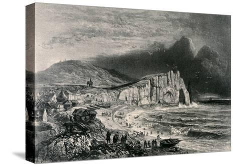 Etretat, Illustration from the Chapter on Normandy from 'La Normandie Illustree', Engraved by…-Felix Benoist-Stretched Canvas Print