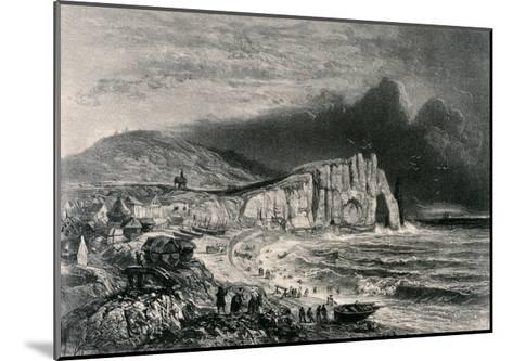 Etretat, Illustration from the Chapter on Normandy from 'La Normandie Illustree', Engraved by…-Felix Benoist-Mounted Giclee Print