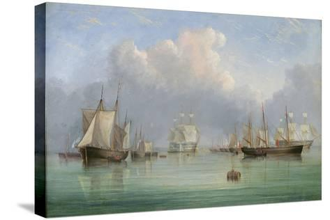 Ships Off Ryde-Arthur Wellington Fowles-Stretched Canvas Print