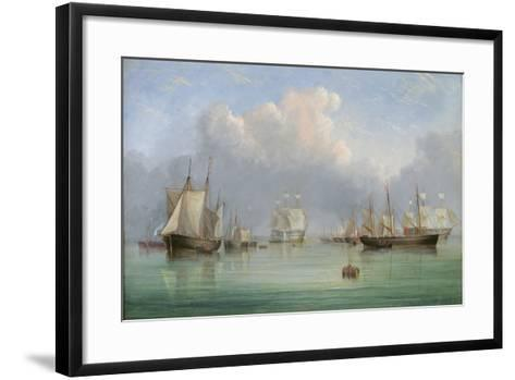 Ships Off Ryde-Arthur Wellington Fowles-Framed Art Print