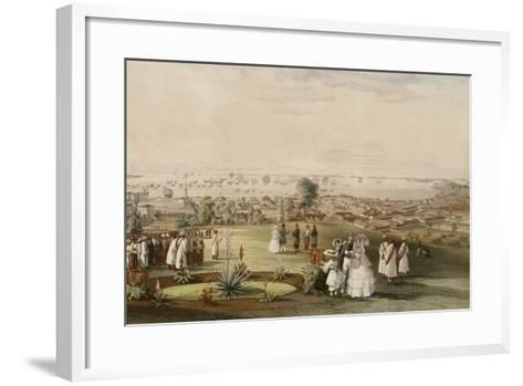 View of Singapore from Fort Canning, 1846-John Turnbull Thomson-Framed Art Print