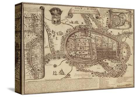 Map of Ayutthaya, 1686--Stretched Canvas Print