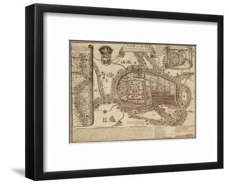 Map of Ayutthaya, 1686--Framed Art Print