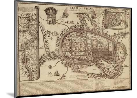 Map of Ayutthaya, 1686--Mounted Giclee Print
