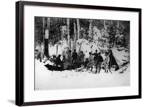 Prince Arthur's Moose Hunting Expedition in Canada, C.1870-English Photographer-Framed Art Print