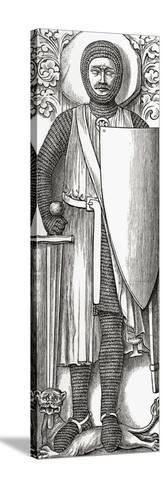 Effigy of William Marshall from His Tomb in Temple Church, London, from 'A Short History of the…--Stretched Canvas Print