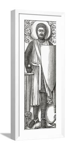 Effigy of William Marshall from His Tomb in Temple Church, London, from 'A Short History of the…--Framed Art Print