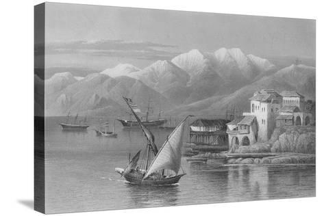 Bay of Beirut, Engraved by C. Cousen-John Douglas Woodward-Stretched Canvas Print