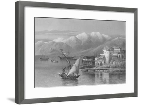 Bay of Beirut, Engraved by C. Cousen-John Douglas Woodward-Framed Art Print
