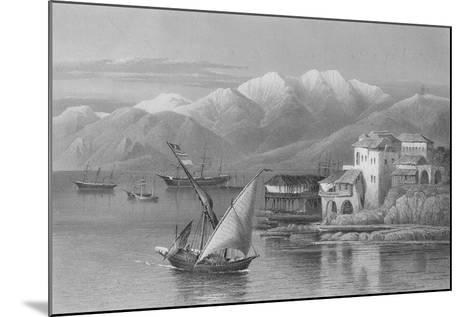 Bay of Beirut, Engraved by C. Cousen-John Douglas Woodward-Mounted Giclee Print
