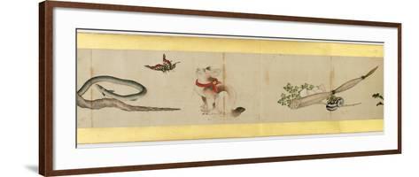 Detail of Handscroll with Miscellaneous Images, Edo Period, 1839-Katsushika Hokusai-Framed Art Print