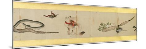 Detail of Handscroll with Miscellaneous Images, Edo Period, 1839-Katsushika Hokusai-Mounted Giclee Print