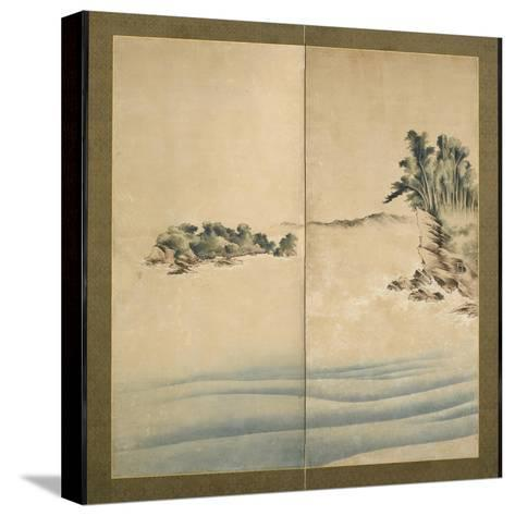 Mount Fuji and Enoshima, Edo Period, C.1825-Katsushika Hokusai-Stretched Canvas Print