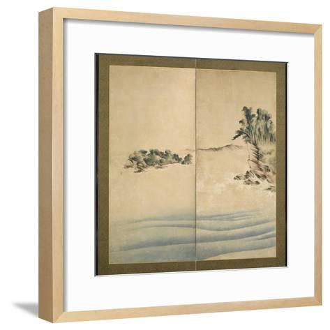 Mount Fuji and Enoshima, Edo Period, C.1825-Katsushika Hokusai-Framed Art Print