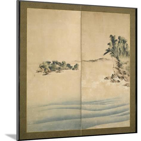 Mount Fuji and Enoshima, Edo Period, C.1825-Katsushika Hokusai-Mounted Giclee Print