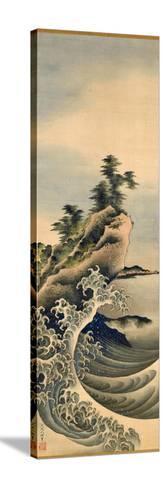Breaking Waves, Edo Period, 1847-Katsushika Hokusai-Stretched Canvas Print