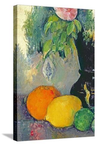 Flowers and Fruits, C.1880-Paul C?zanne-Stretched Canvas Print