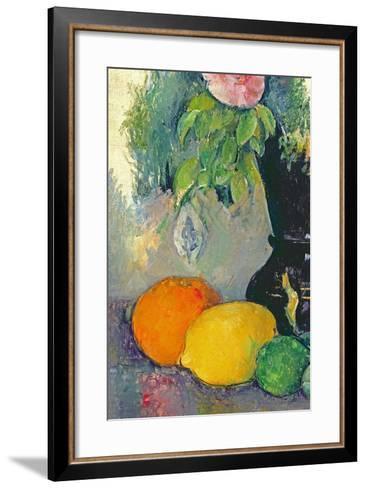 Flowers and Fruits, C.1880-Paul C?zanne-Framed Art Print